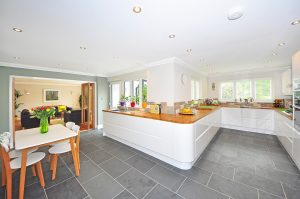 kitchen with clean tiles and grout