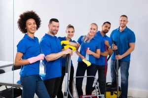 Janitors and commercial cleaning staff